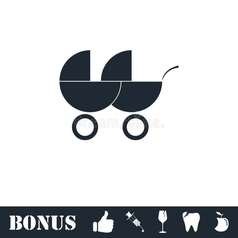 Transporte de beb? para o plano do ?cone de dois beb?s ilustração royalty free