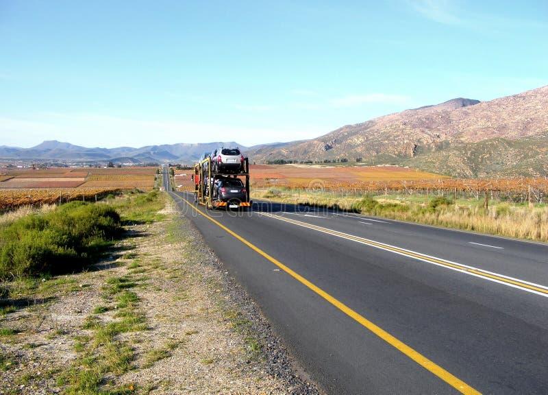 Transporte de camino nacional foto de archivo