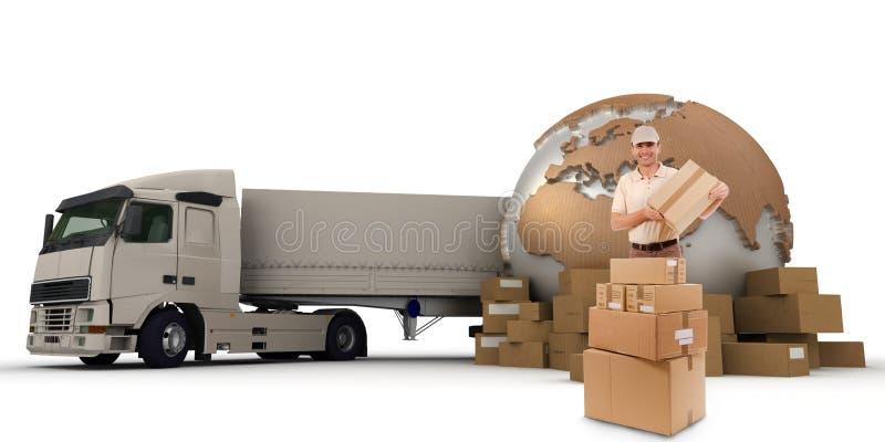 Transporte de cargo ilustración del vector