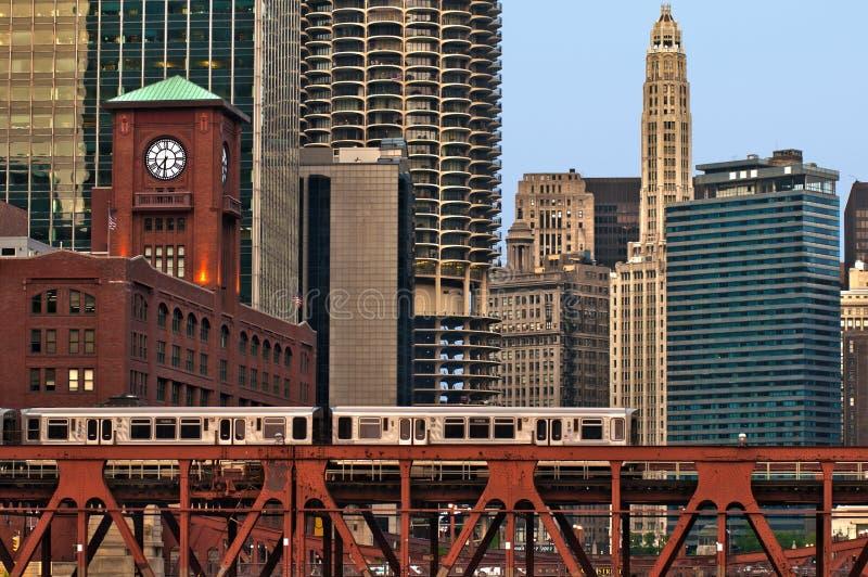 Transporte de Chicago. imagens de stock
