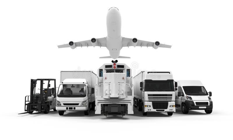 Transporte de la carga stock de ilustración