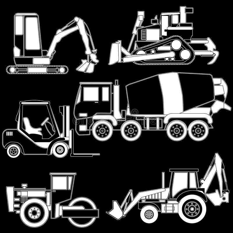 Transporte de la construcción del vector stock de ilustración