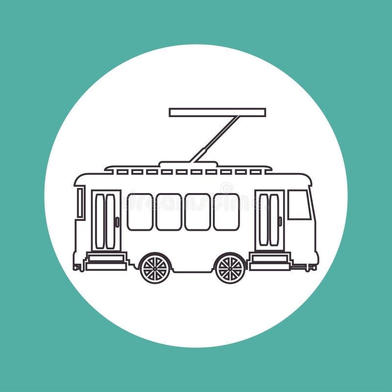 Transporte de la manera de la tranvía del vintage stock de ilustración