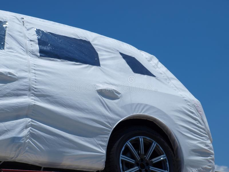 Transporte de los nuevos vehículos foto de archivo libre de regalías