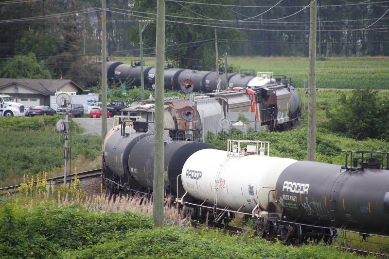 Transporte de mercancías peligrosas en tren imagen de archivo