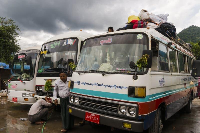 Transporte de Myanmar fotografia de stock