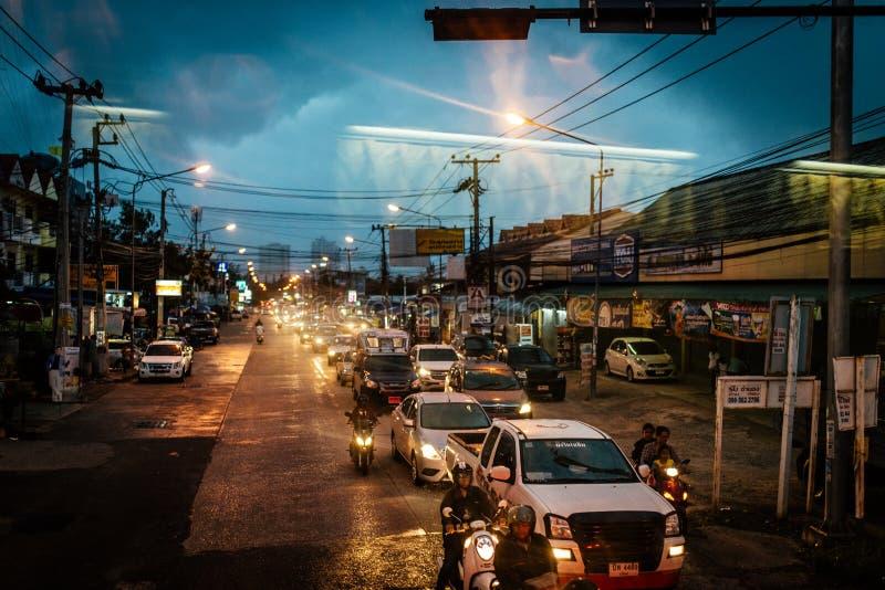Transporte de Tailândia no por do sol fotos de stock royalty free