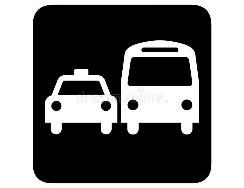 Transporte de tierra invertido stock de ilustración