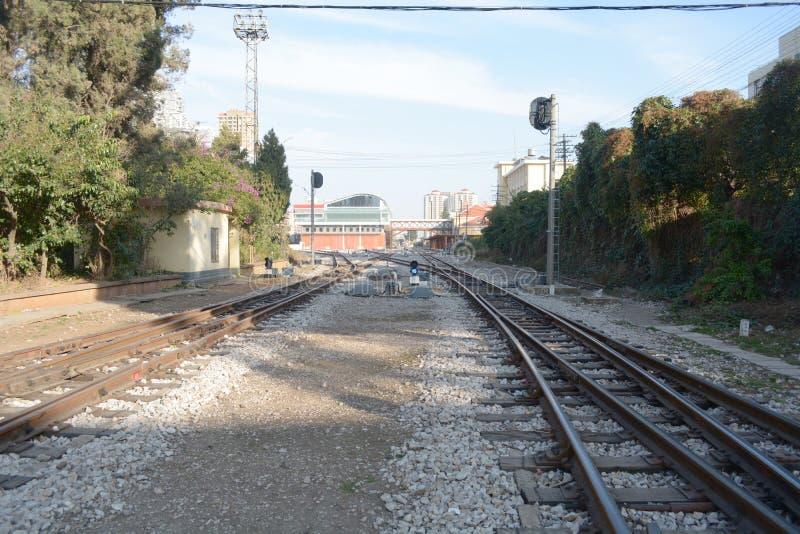 Transporte del ferrocarril o del ferrocarril imágenes de archivo libres de regalías
