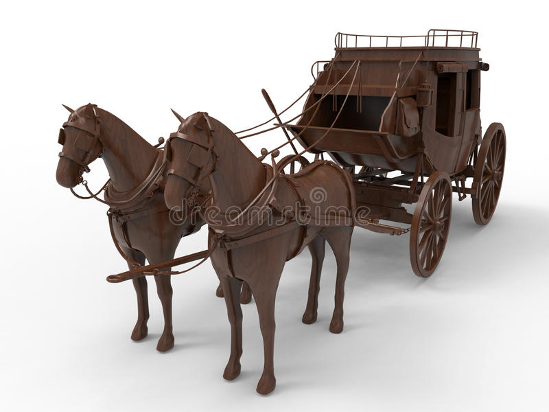 Transporte do cavalo ilustração stock