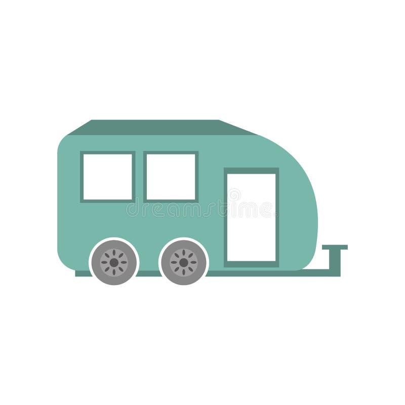 transporte do curso da caravana do carro do reboque ilustração royalty free