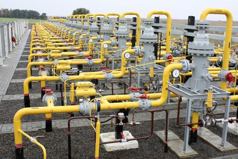 Transporte do gás imagens de stock