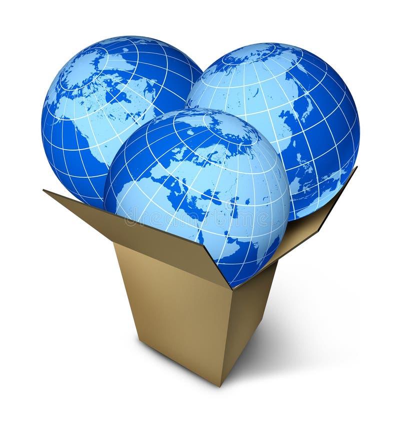 Transporte do pacote do mundo ilustração stock