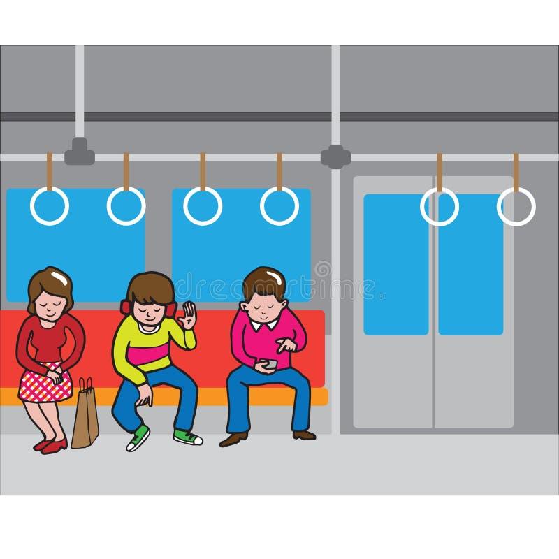 Transporte do peple do metro ilustração do vetor