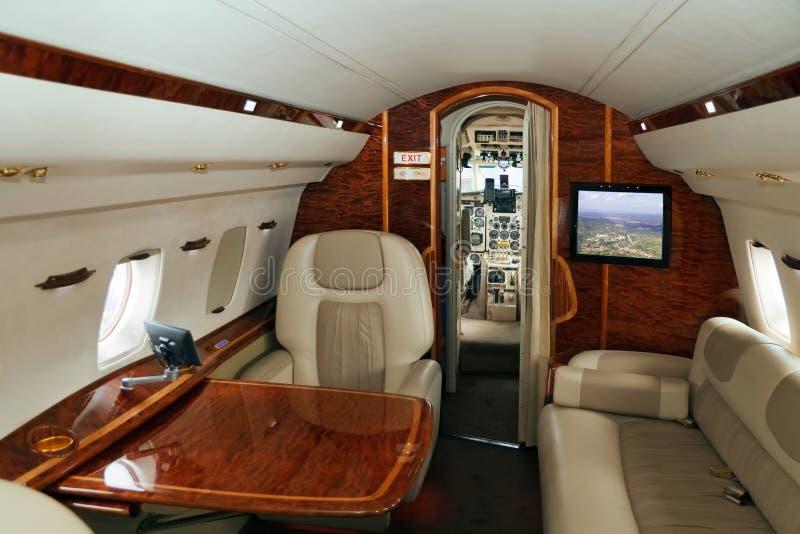 Transporte do VIP (avião do jato) fotografia de stock