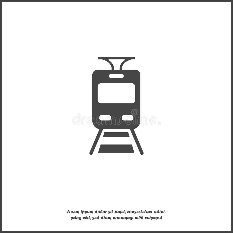Transporte dos ícones do vetor Ícone do trem do vetor Ilustração do metro no fundo isolado branco ilustração royalty free