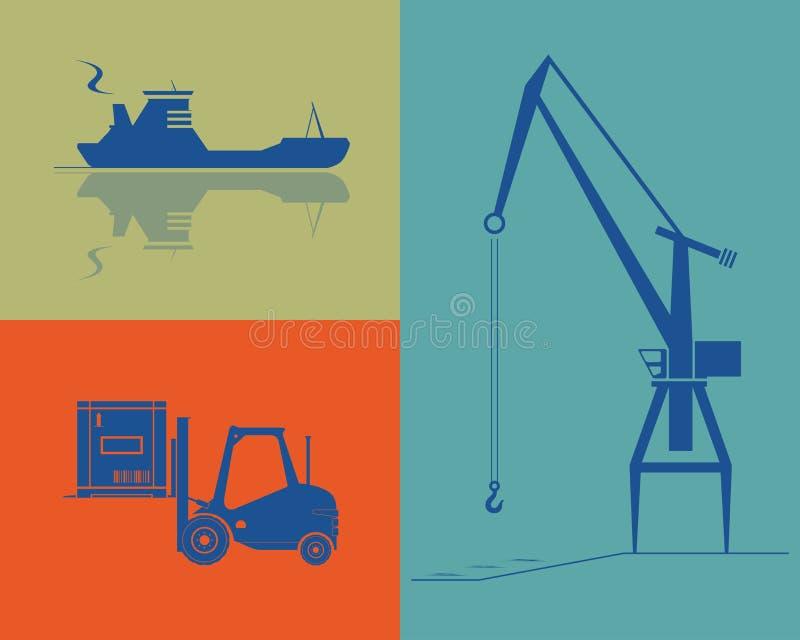 Transporte e indústria da carga. ilustração royalty free