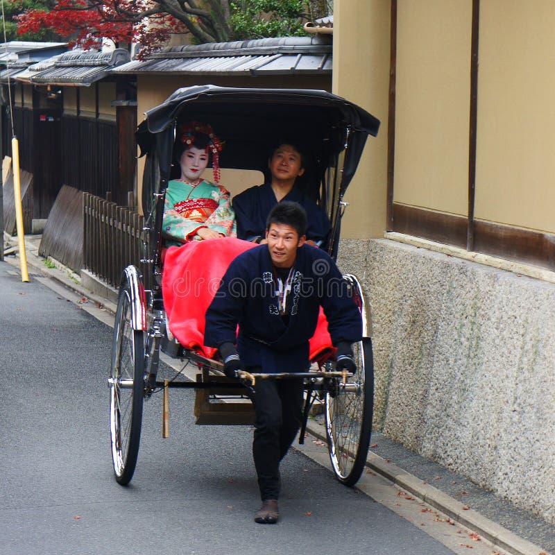 Transporte en Kyoto en Japón fotografía de archivo libre de regalías