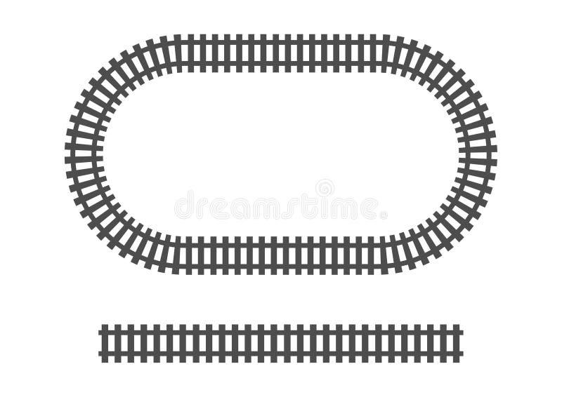 Transporte ferroviario del tren de ferrocarril del marco locomotor de la vía fotos de archivo