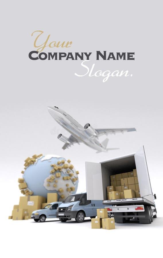 Transporte internacional de las mercancías stock de ilustración