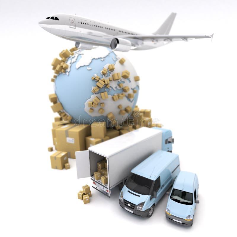 Transporte Internacional Dos Bens Imagem de Stock - Imagem