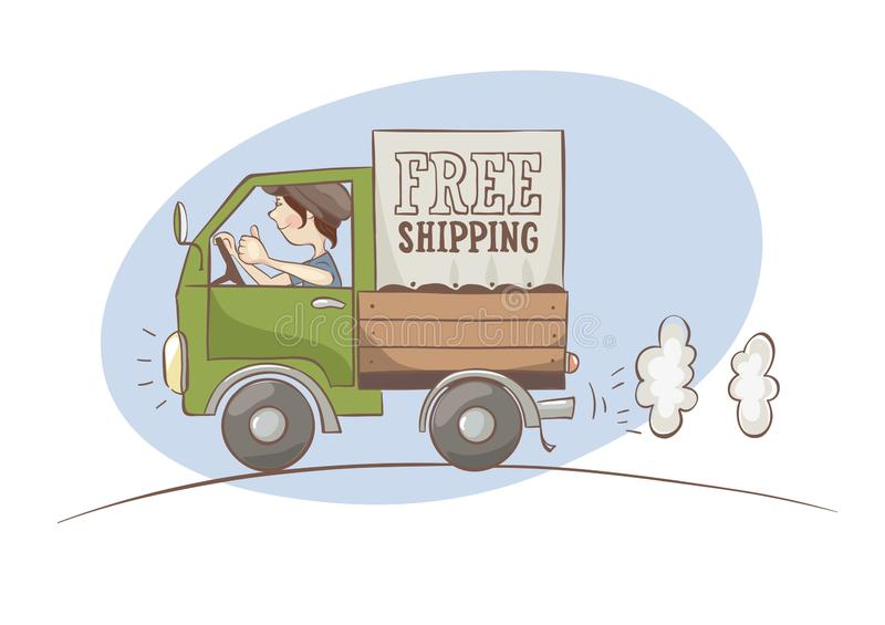Transporte livre ilustração royalty free