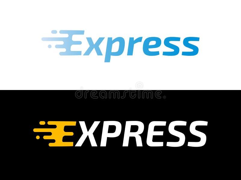 Transporte logístico o logotipo del correo de los posts del envío express para el envío de la logística del mensajero Icono expre ilustración del vector