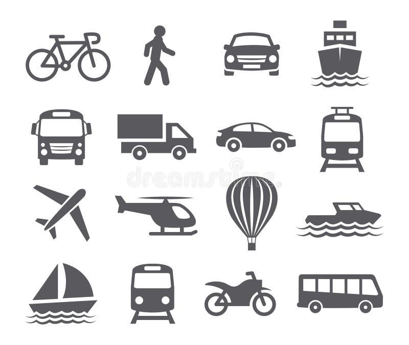 Transporte los iconos stock de ilustración