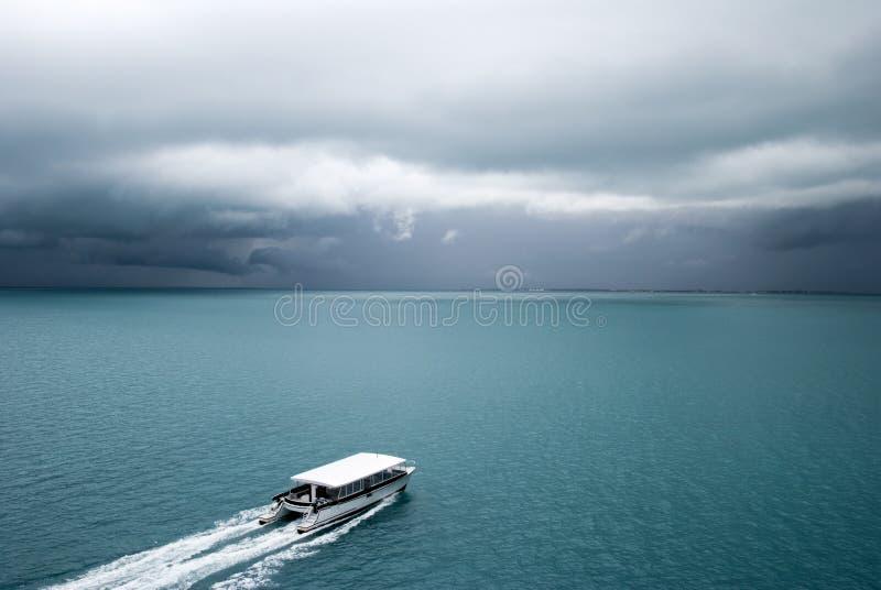 Transporte macio do barco em Belize fotografia de stock royalty free