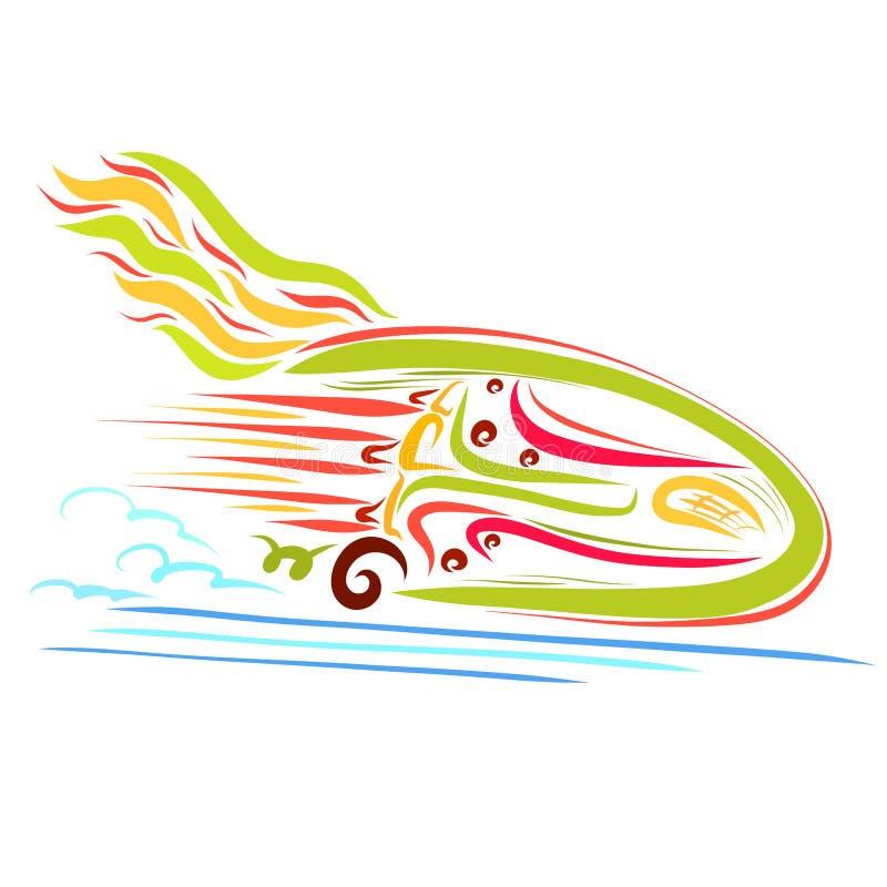 Transporte muito rápido com asas, velocidade do movimento ilustração royalty free