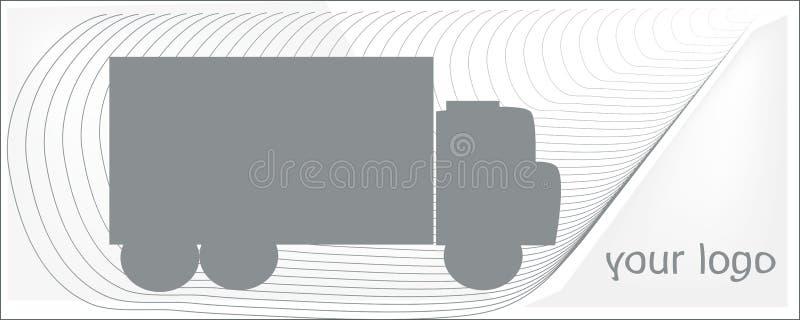 Transporte o cinza em um fundo branco para seu logotipo fotos de stock royalty free