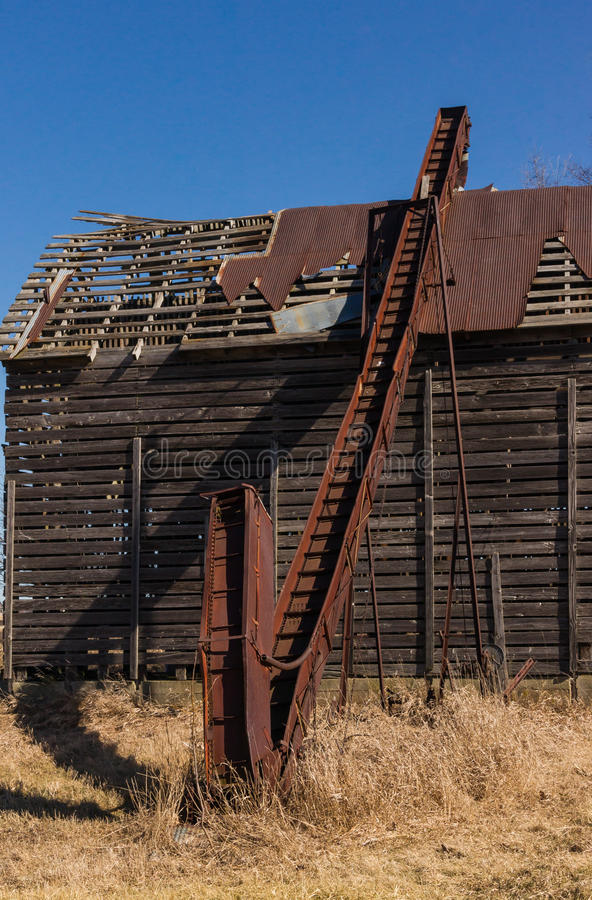Transporte oxidado da grão fotografia de stock