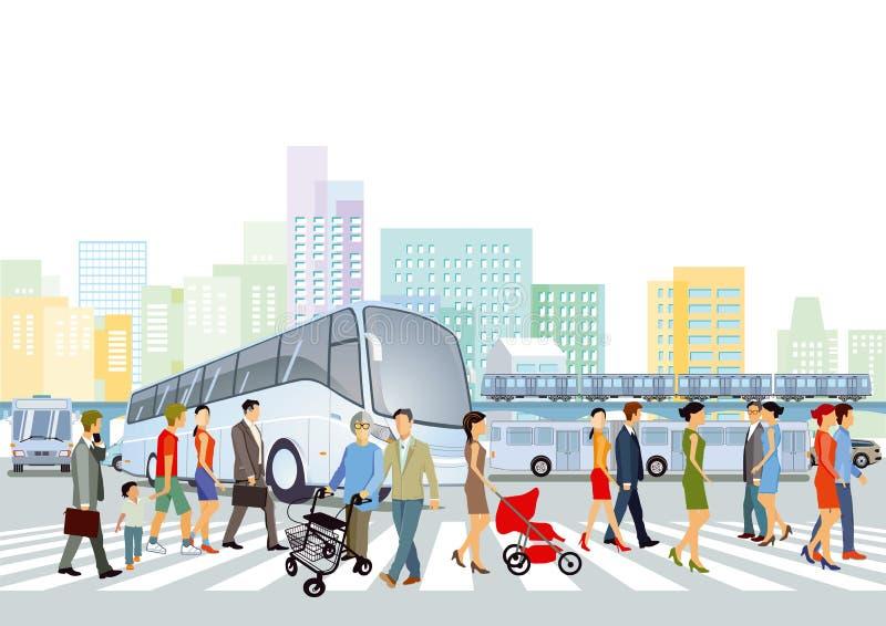 Transporte público stock de ilustración