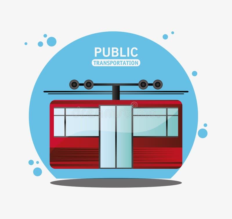 Transporte público del ferrocarril de cable ilustración del vector