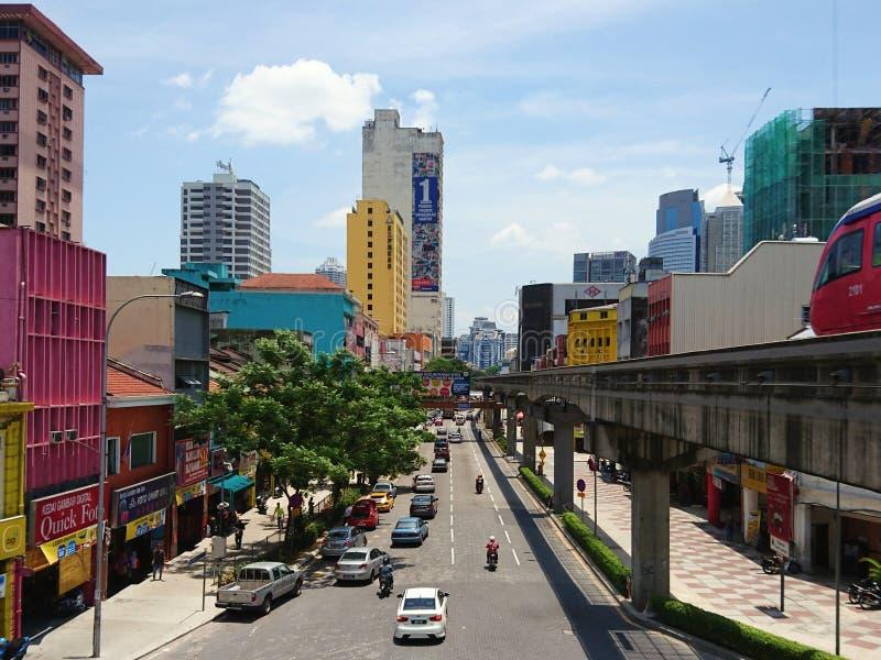 Transporte público e tráfego em Chow Kit fotos de stock