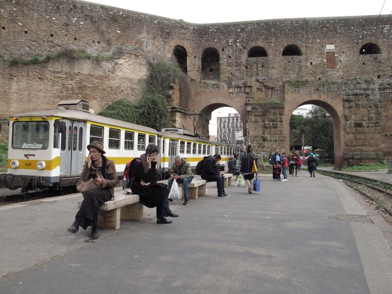 Transporte público em Roma, Itália fotos de stock