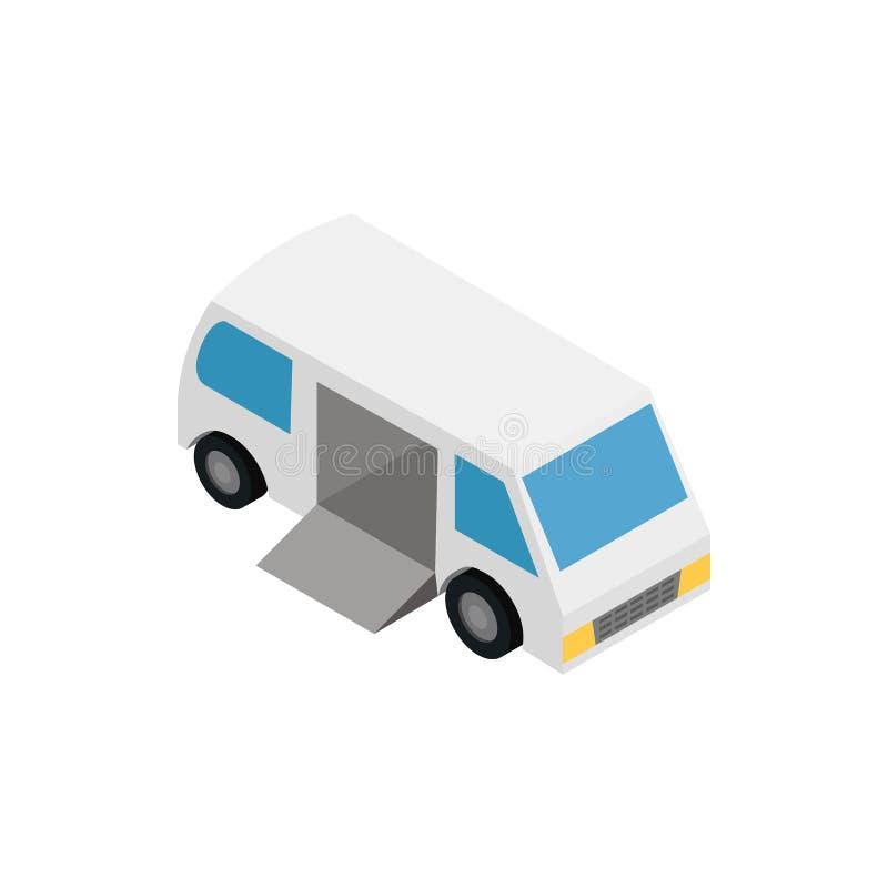 Transporte para o estilo 3d isométrico do ícone dos enfermos ilustração do vetor