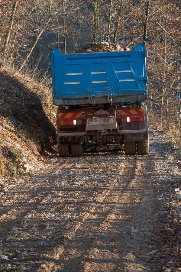 Transporte pelo caminhão foto de stock