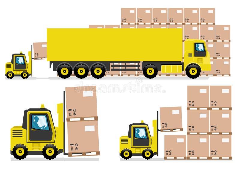 Transporte por camión libre illustration