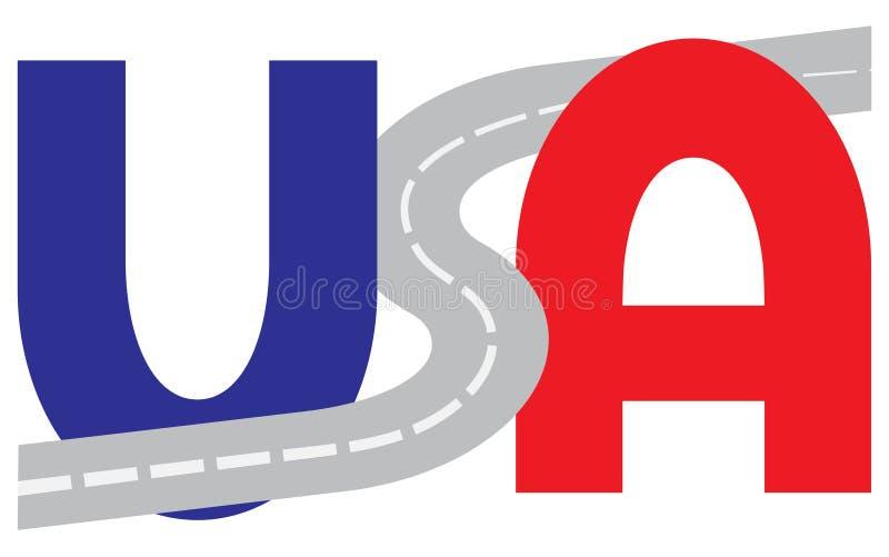 Transporte por camión en el concepto de los E.E.U.U. libre illustration
