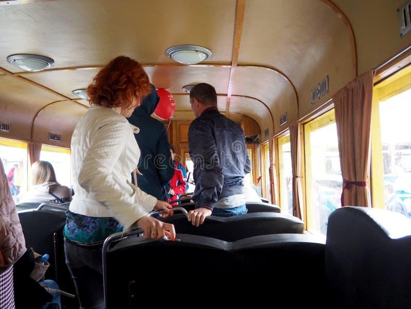 Transporte retro urbano de la decoraci?n interior fotos de archivo libres de regalías