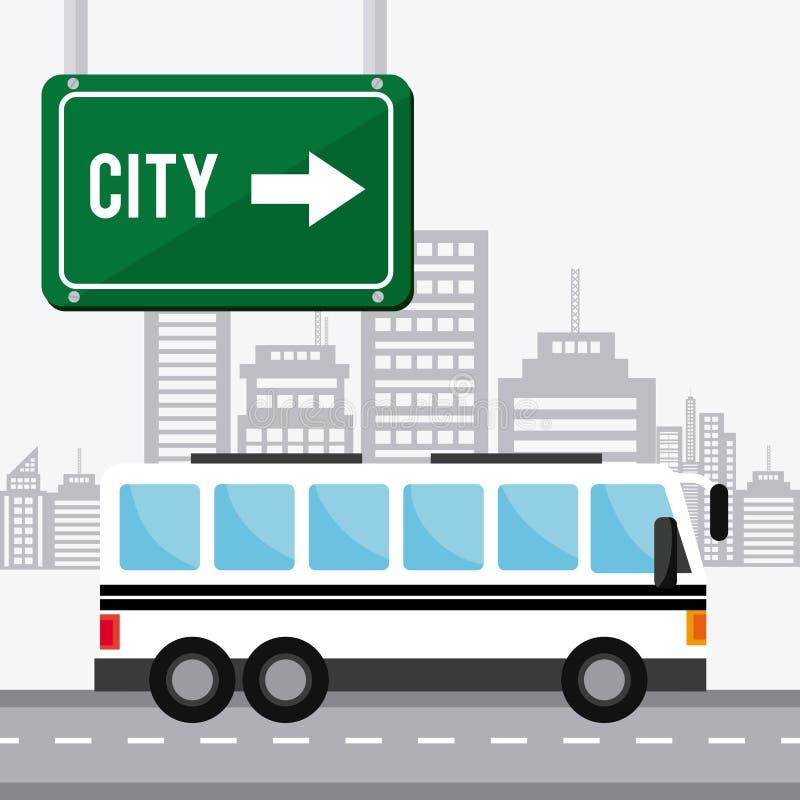 Transporte, tráfico y diseño de vehículos ilustración del vector