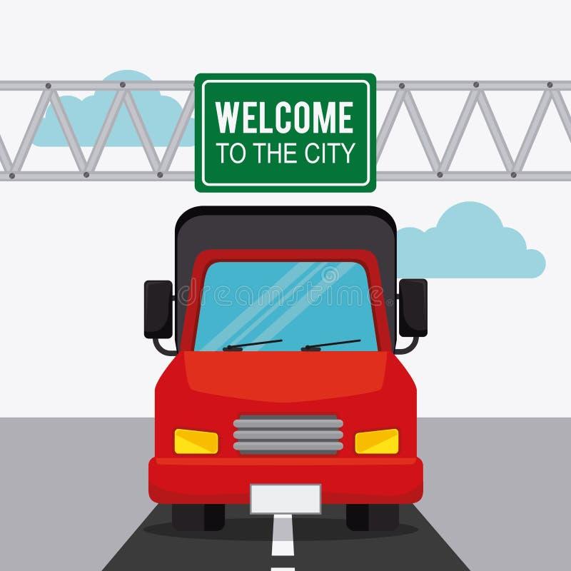 Transporte, tráfico y diseño de vehículos libre illustration