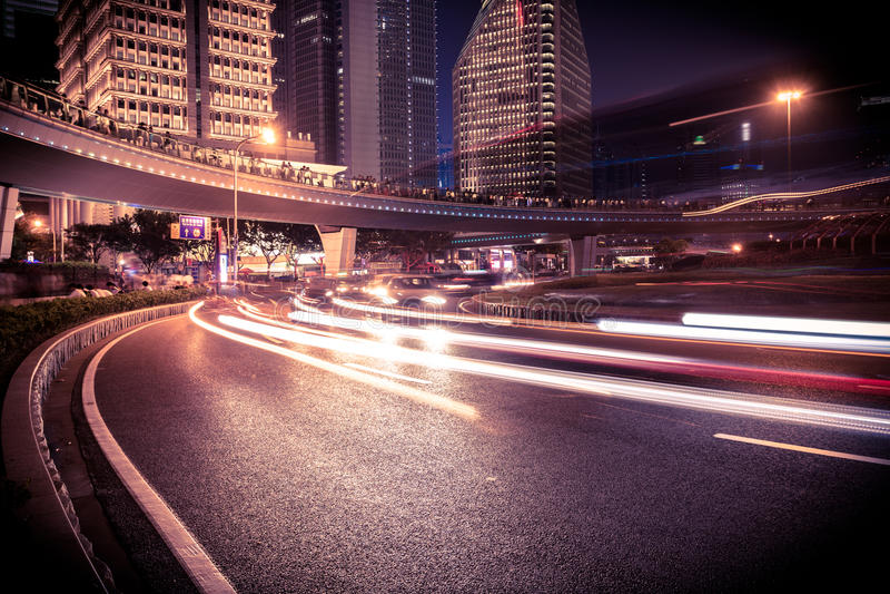 Transporte urbano de Shanghai Pudong foto de stock royalty free