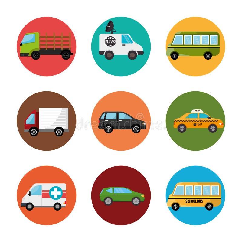 Transporte urbano y vehículos libre illustration