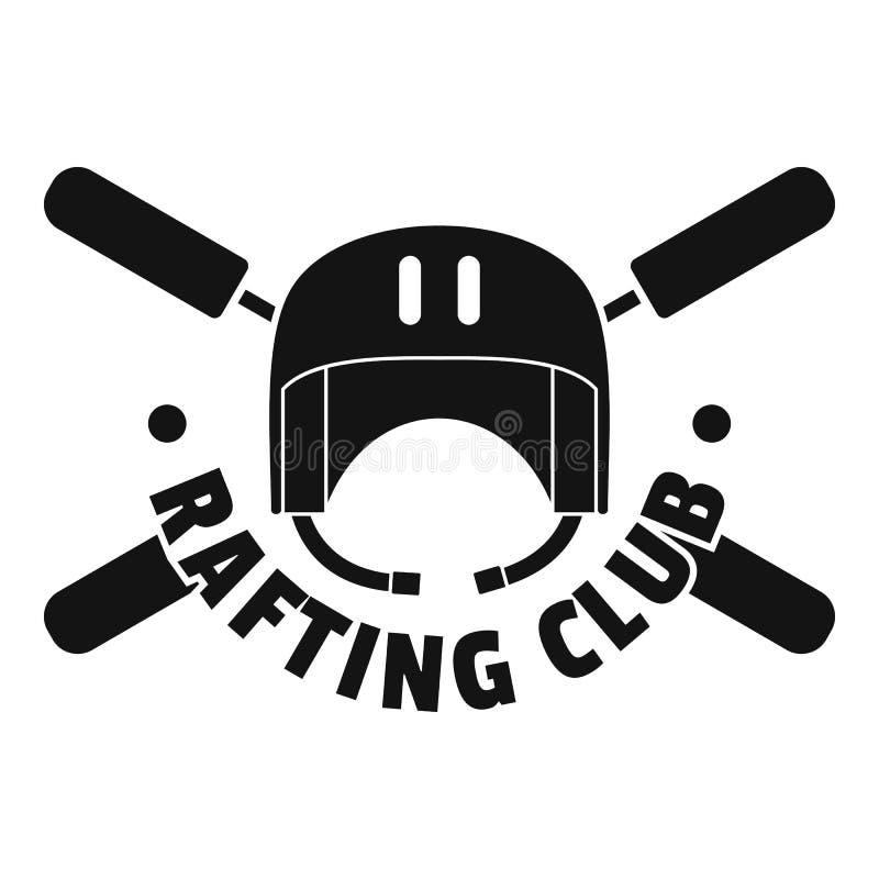 Transporter le logo par radeau de casque de club, style simple illustration de vecteur