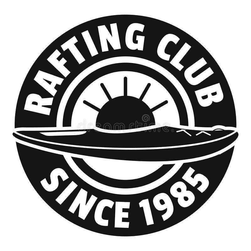 Transporter le logo par radeau de club, style simple illustration libre de droits