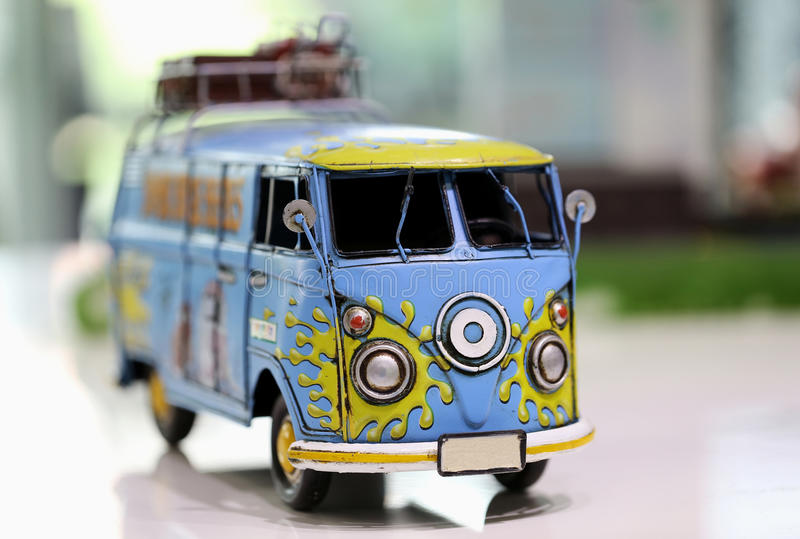Transporter Toy Car. View of Transporter toy car stock photo