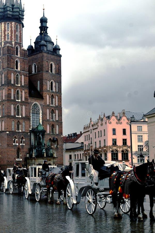 Transportes e Santa Maria Basilica do cavalo fotos de stock