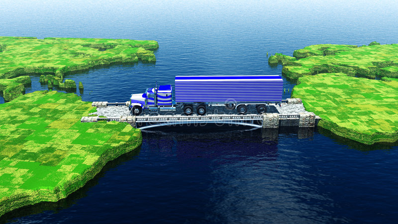 Transportes intercontinentais da carga ilustração do vetor